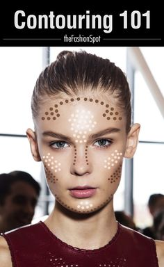 Contouring made easy from our friends at The Fashion Spot!