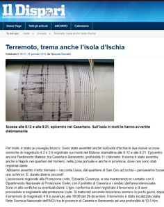#IlDispari quotidiano - #terremoto 20 gennaio 2014 #Ischia