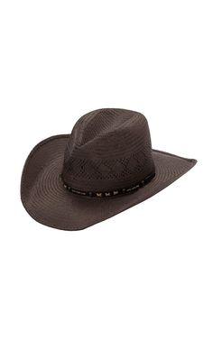 Cavender's Dark Brown Soft Bangora Vent Straw Cowboy Hat DBSBVP136