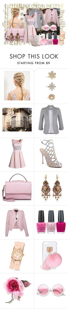 """Unbenannt #6132"" by snowmoon ❤ liked on Polyvore featuring New Look, WALL, Miss Selfridge, Schutz, WithChic, Michal Negrin, BCBGMAXAZRIA, OPI, Michele and Ashlyn'd"
