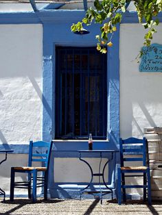 Taverna-Siesta time in Pigadia, the main town of Karpathos  - Karpathos, Dodekanisos