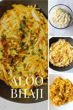 A popular Bengali dish. Comfort food. Delicious with rice or roti's. A desi breakfast or for lunch or dinner. Its always a hit. Thin slices of potatoes cooked with a few Indian spices. The Best aloo bhaji recipe. Super simple and easy! #AlooBhaji #AlooRecipes #Vegetarian #BengaliFood Easy Delicious Recipes, Vegetarian Recipes Easy, Lunch Recipes, Easy Dinner Recipes, Delicious Food, Easy Meals, Cooking Recipes, Tasty, Aloo Recipes