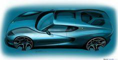 Lamborghini Asterion exterior design sketch. More here: http://formtrends.com/lamborghini-design-boss-on-the-asterion-exterior-design