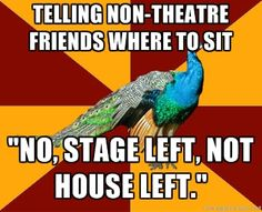 My family knows this all too well.  Theater Kid Problems