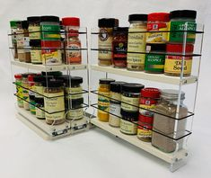 New Vertical Spice - DC - Spice Rack - Cabinet Mounted- 3 Drawers - 30 Capacity - New Unique online shopping - Gotopratedseller Spice Rack Cabinet Pull Out, Kitchen Spice Racks, Magnetic Spice Racks, Spice Jars, Kitchen Storage, Kitchen Pantry, Spice Rack Organization, Spice Rack Organiser, Best Spice Rack