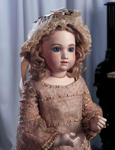 Grand Notes - Collection of Carole Zvonar:                       13  An Outstanding French Bisque Bebe A.T.,Size 10,by Thuillier
