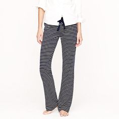 Dreamy cotton pant in stripe...have these in white/black, best pj pant ever