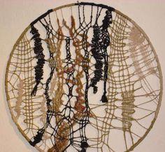 Contemporary Bobbin Lace 1 | Flickr - Photo Sharing! Hairpin Lace Crochet, Crochet Edgings, Crochet Motif, Crochet Shawl, Lace Earrings, Lace Jewelry, Leather Art, Leather And Lace, Contemporary Embroidery