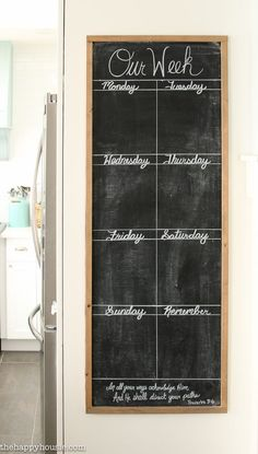 Chalkboard Kitchen Weekly Planner Keep yourself organized and don't forget important activities and appointments with this DIY giant chalkboard kitchen weekly planner.Forget it Forget it may refer to: