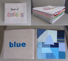 Super cute color book for the little one! #baby #sewing