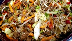 Chop Suey, Japchae, Stir Fry, Fries, Dinner Recipes, Cooking Recipes, Favorite Recipes, Ethnic Recipes, Food