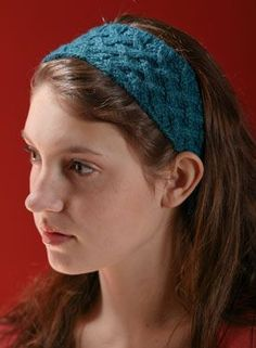 Lattice Cable Headband Pattern - Free Knitting Patterns by Kerin Dimeler- Laurence