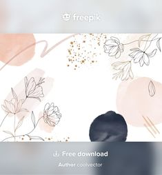 Download Hand Drawn Style Floral Background for free