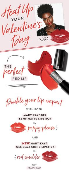 Because two lipsticks are better than one! Glam up your Valentine's Day makeup with our hot lips how-to. | Mary Kay