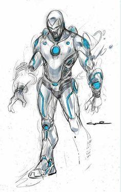 Superior Iron Man by Yildiray Cinar Marvel Dc, Marvel Comics, Arte Dc Comics, Marvel Heroes, New Iron Man, Iron Man Art, Superior Iron Man, Batman Drawing, Arte Nerd
