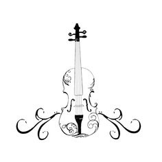 I usually don't like tattoos with violins so literally represented, but this is awesome
