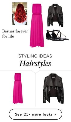 """""""Besties forever for life"""" by bubble-843 on Polyvore featuring Haute Hippie and HIDE"""