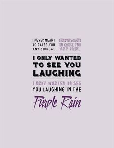 One of my all time fave songs and movies!!! purple rain -Prince