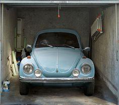 Fotoplane für Garagentor VW Käfer / Garage Mural Oldtimer Beetle