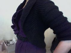 Knitted Textured Circle Shrug, free pattern on lionbrand.com