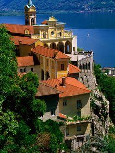 Sanctuary of Madonna del Sasso and Lago Maggiore, Locarno, Switzerland