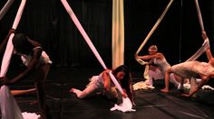 Crossroads - Ensemble Silk Aerial Theatre. Some really original aerial vocabulary in this from Paper Doll Militia.