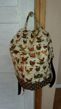 Chicken backpack  Www.facebook.com/handmadebylisaevans