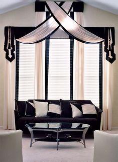 69 Ideas Art Deco Window Treatments Interior Design For 2019 Window Coverings, Window Treatments, Decor Scandinavian, Window Styles, Curtain Designs, Curtain Ideas, Drapes Curtains, Valances, Drapery