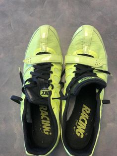 dd3fe3a86 Nike Zoom Rival Volt black white Mens Spiked Track Shoe US 12 M Euro 46 for  sale online