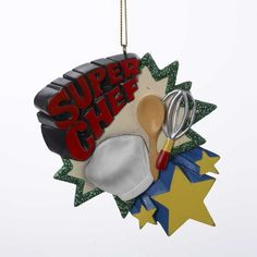 Kurt Adler 'Super Chef' Christmas Ornament >>> Additional details at the pin image, click it  : Christmas Decorations