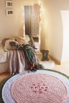 Alfombra de 1.50 metros de diámetro. Modelo Sandía www.susimiu.es