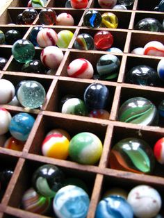 marble collection in an old printers tray......would like to find an old printers tray to display some of my marbles in.
