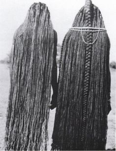 Mbalantu of Wambo group, Namibia, Africa We have always had the ability to grow long hair.