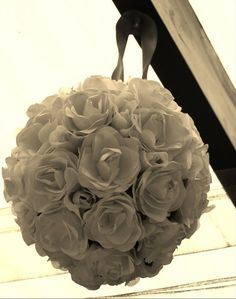 White Paper Flower ball...
