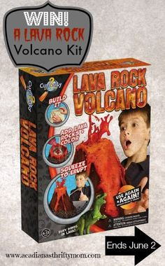 #Win Lava Rock Volcano Kit- US Only, ends 6/2 Do your kids love science experiments??