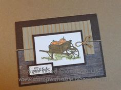 A great fall card using 'Pleasant Pheasants'! Diy Thanksgiving Cards, Friends Thanksgiving, Fall Cards, Stamping Up Cards, Rubber Stamping, Cards For Friends, Pheasant, Masculine Cards, Scrapbook Cards
