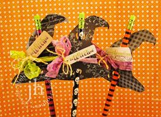 witch pencil toppers | Witch Pencil Topper (Halloween Manualidades Dulces)