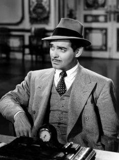 """Clark Gable en """"Camarada X"""" (Comrade X), 1940"""