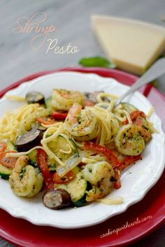 Shrimp pesto ...