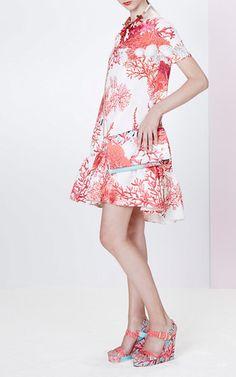 Coral Print Dress by Blugirl for Preorder on Moda Operandi
