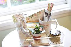 Housewarming Gift Idea: Fill a tray with pretty and welcoming gifts!