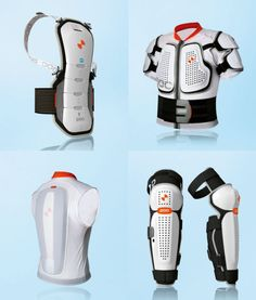 The POC Wheels body armor for sports. I used these in my Modern Assassin design, in an attempt to translate Ezio's armor to modern stylings.