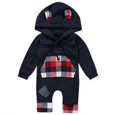 Hooded Plaid Jumpsuit