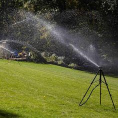 Run All Sprinklers at Once When Using Well Water - Smart and Effective Lawn Watering Tips: http://www.familyhandyman.com/landscaping/lawn-care/smart-and-effective-lawn-watering-tips#4