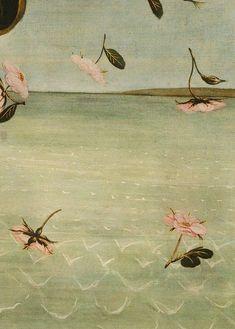 Beautiful detail from Birth of Venus, Sandro Botticelli, 1496 Galerie Des Offices, Venus Painting, Roman Goddess Of Love, Giorgio Vasari, The Birth Of Venus, Aesthetic Painting, Florence, Arte Floral, Renaissance Art