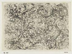 Martin Schongauer, Ornament Print with Hop Vine, 1480s