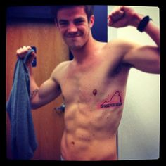 Shirtless Grant Gustin