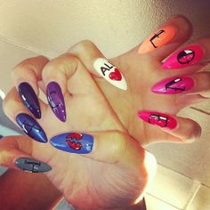 lonve and hate nail design