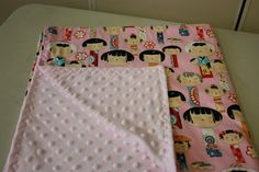 30 minute minky blanket tutorial