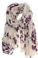 Kobwa(TM) Charming Elegant Women Butterfly Print Soft Long Scarf Wrap Shawl with Kobwa's Keyring